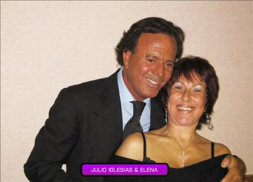Julio Iglesias and Elena