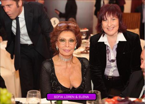 Sofia Loren and Elena