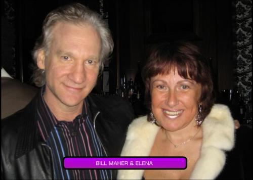 Bill Maher and Elena